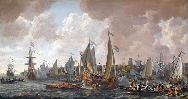 The arrival of King Charles II in Rotterdam 1660